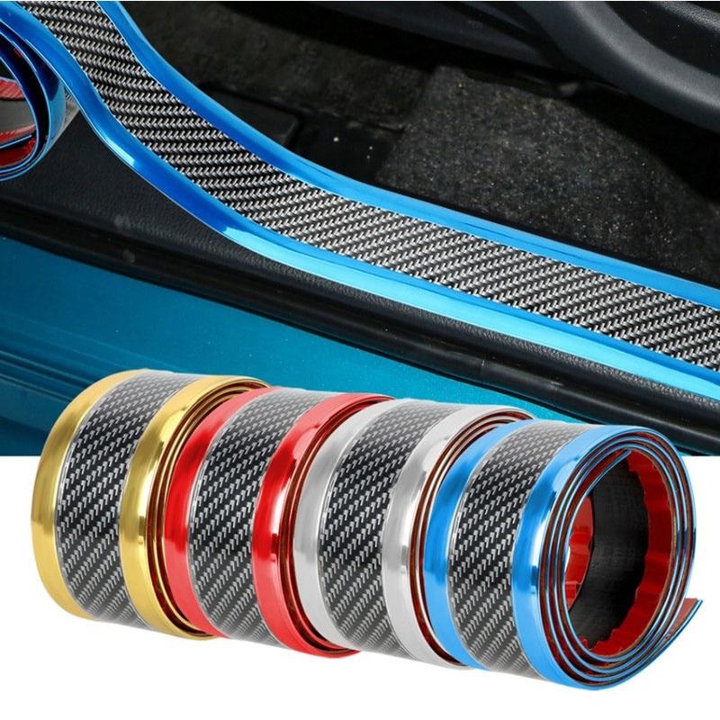 Защита для входной двери автомобиля, защита от царапин, защита краски, углеродное волокно, резина, автомобильный бампер, защита двери, полоски для защиты от царапин