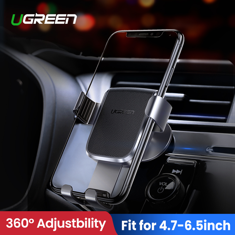 Ugreen Phone Holder For Mobile Phone In Car For IPhone XR Auto Cellular Support Dashboard Holder Stand Smartphone Gravity Holder