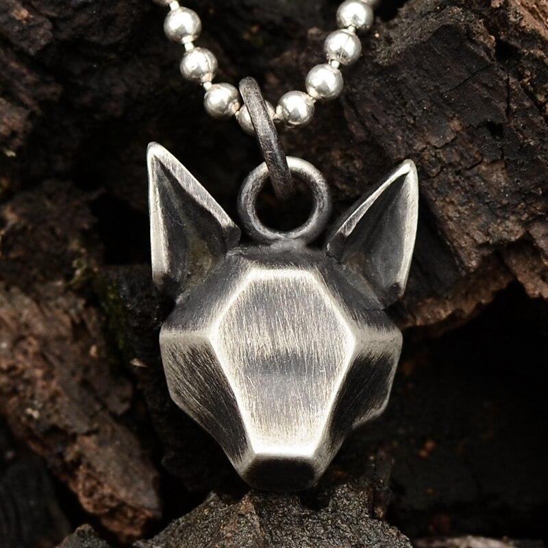 Originale disegno a mano 925 sterling argento degli uomini e delle donne di personalità foresta salto anello volpe pendenti - 3
