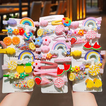 Mix Barrettes for Women Girls Colorful Bobby Pins Duck Clips Decorative Rainbow Fruit Hair Pins Hair Accessories JX012601