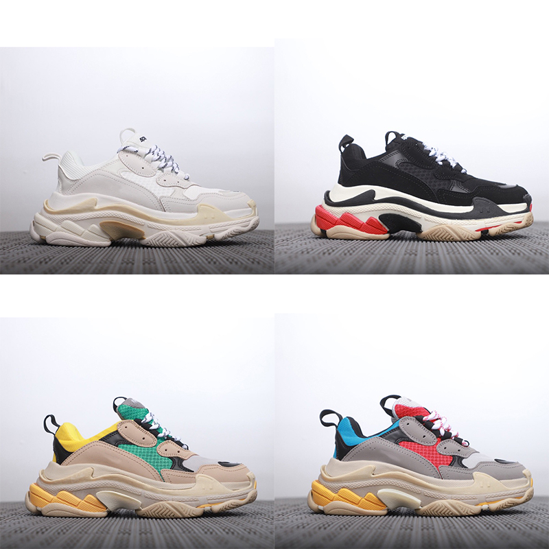 Retro Women Triple S Men Women Sneaker Thick Bottom High Quality Street Old Dad Shoes Zapatillas Mujer Deportiva Balenciaca