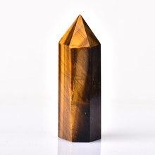 Varinha de cristal mineral 50-80mm, varinha de cristal natural do tigre olho, pedra de cura, artesanato para decoração de casa presente diy, presente