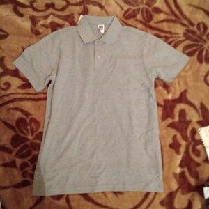 Image 5 - Мужская рубашка поло, Мужская одежда, мужские футболки поло, Повседневная летняя хлопковая Однотонная рубашка поло, 2019