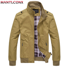 MANTLCONX 2019 Autumn Jacket Men Fashion Casual Loose Mens Sportswear Bomber Jackets Male Brand Coats Man 4XL