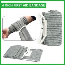 4 Inch Vacuum Sterile Compression Emergency Kit Bandage for Battle Dressing First Aid IFAK Trauma Military Survive Camping Tools