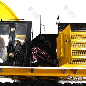 Image 4 - Тяжелый экскаватор LESU 1/14 Carter 374F, полный металлический грузовик в комплекте, радиатор для автомобиля, гусеничная звездочка, несобранный, неокрашенный, DIY TH15862