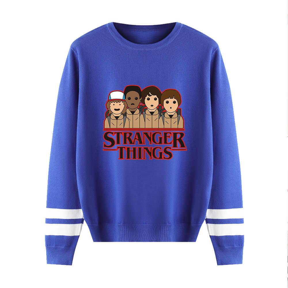 Hal Yang Aneh Tanpa Hoody Pria/Wanita Musim Dingin Musim Gugur Baru Fashion Merah Muda Lengan Panjang Hangat Santai Rajutan Kasual Sweater atasan