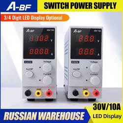 A-BF Mini Adjustable Laboratory Switch Power Supply 3/4 Digit LED Display High Precision 30V 10A Voltage Regulator Power Supply