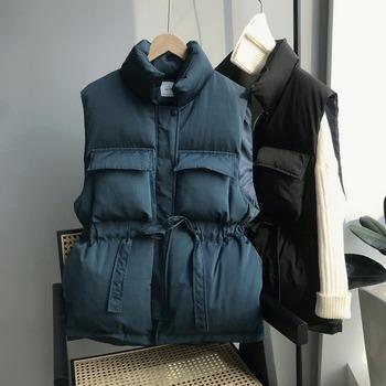 Winter Spring ciepła podkoszulka 2020 koreański luźny płaszcz pogrubienie przed krótkie i długie talia bawełniana kamizelka kobiety kurtka pikowana tanie i dobre opinie HXJJP Zima COTTON Poliester CN (pochodzenie) Kieszenie Regulowany pas Stałe REGULAR WOMEN Osób w wieku 18-35 lat MANDARIN COLLAR