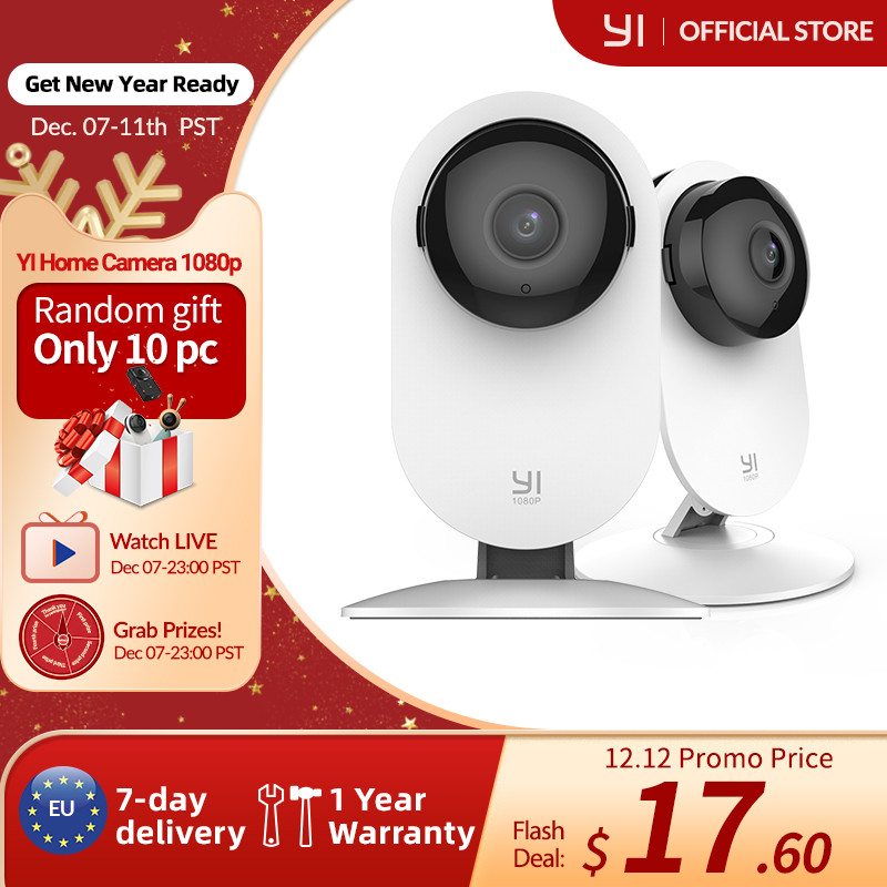 2x Kamera IP YI Home Camera 1080P z EU za $28.80 / ~106zł