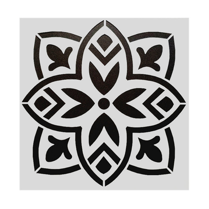 DIY Home Painting Decor 15*15cm Vintage Pattern Stencils Template For Tile Floor Furniture Fabric Painting Decor DIY