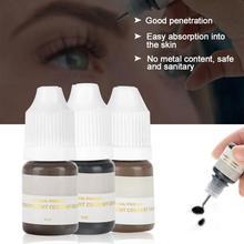Pigmento de microbaldado para tatuaje, accesorios de bordado 3d, maquillaje semipermanente para cejas, labios, delineador, Kit de tatuaje, 1 Uds., 8ml