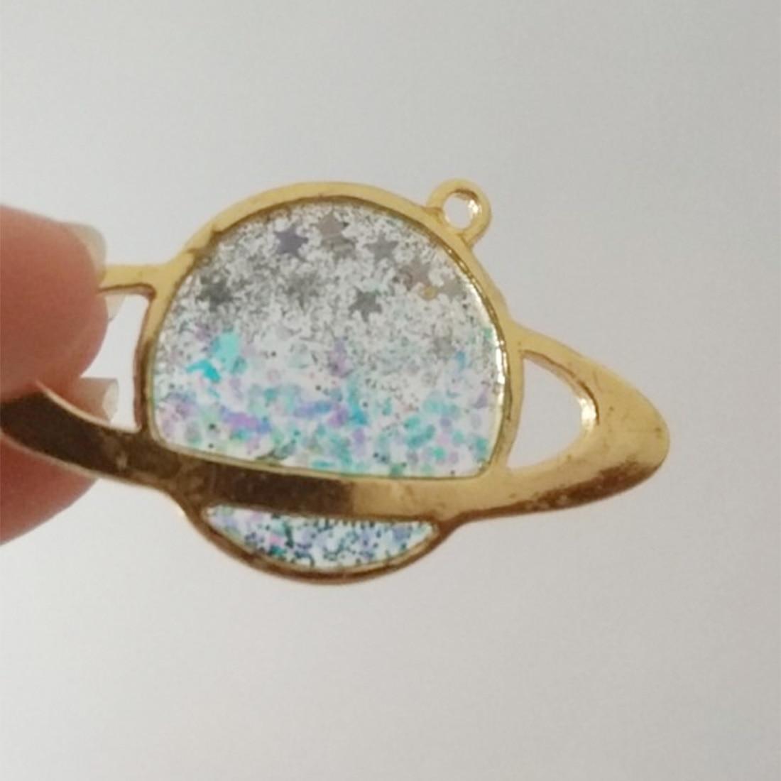 5Pcs UV Pendant Open Bezel Setting Resin Earring Jewelry DIY Accessories