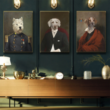 AAHH Wall Art Retro Nostalgia Gentleman Oil Paintings Animal Posters Print Canvas Painting for Living Room Fashion Home Decor