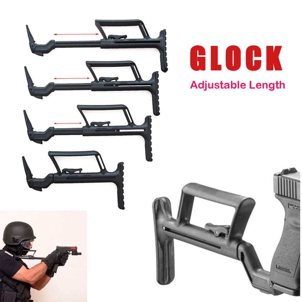 TOtrait Glock Support Buttstock Auxiliary Adapter For Glock 17 G18 G19 G22 G34 Airsoft Pistol Carbine Accessories