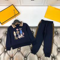 2020 New Autumn Winter Kids Clothing Set Dark Blue for Toddler Boys Kids Clothing set Causal Brand Sports Children Wear
