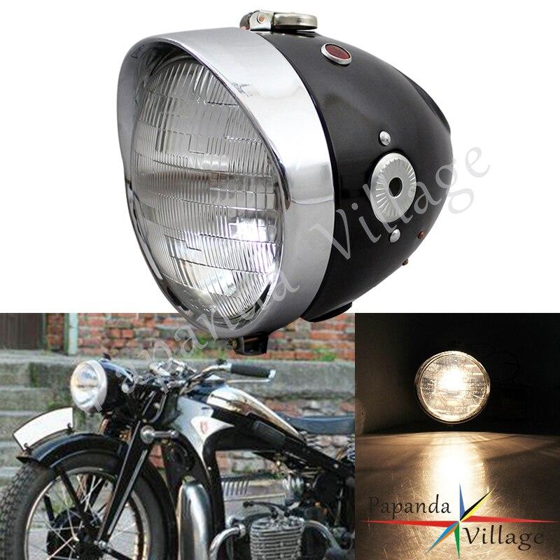 Moto café Racer phare rétro avant lampe personnalisée pour Zundapp BMW K750 KS750 M72 R12 R75 R51 R6 BW40 Dnepr Ural Sidecar