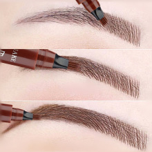 Pencil Eyebrow-Pen Cosmetic Dark-Brown Natural 4-Fork Long-Lasting Waterproof 5-Colors