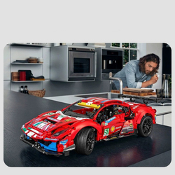 In Stock Technic Series Super Racing Car 488 GTE Model Compatible Building Blocks Bricks Educational Toys Kids Gifts 42125 42115