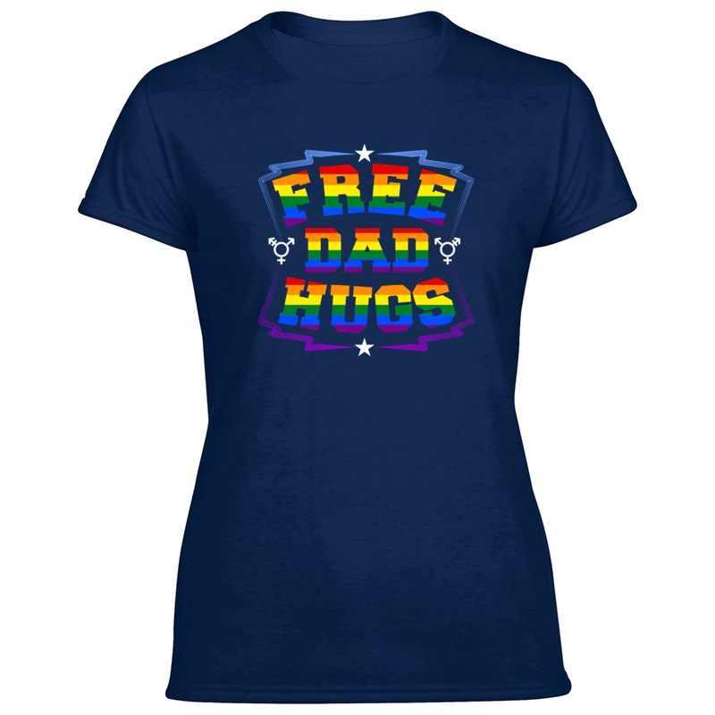 """מתנה להט""""ב הומו לסבית מודפס מכתב שווה קשת גאווה חולצת טי איש מצחיק O-צוואר יוניסקס ילד ילדה T חולצות פופ למעלה טי"""