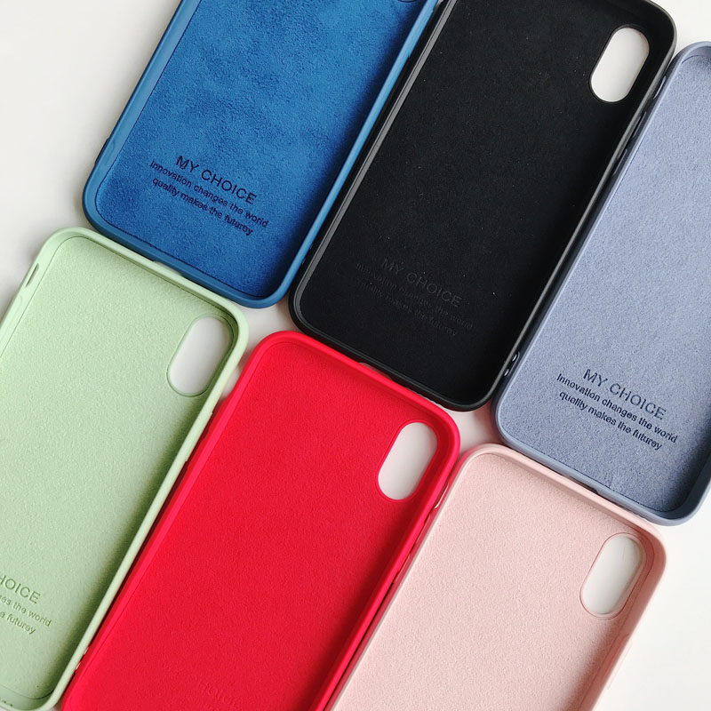 >Luxury Soft TPU Silicone Skin-friendly Phone Case For iPhone 11 Pro XS <font><b>Max</b></font> XR X 10 iPhone 8 7 Plus iPhone 6S 6 <font><b>S</b></font> 6Plus Cover