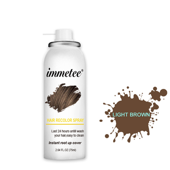 IMMETEE Hair Color Spray Hair Color Repair To Fill The Hair Color  Black And Brown 75ml/Pcs Color Hair Healthy Hair dye immetee new product hair color wax for men