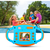 Children's digital camera soft plastic anti fall 5 million camera early education puzzle baby gift toy camera