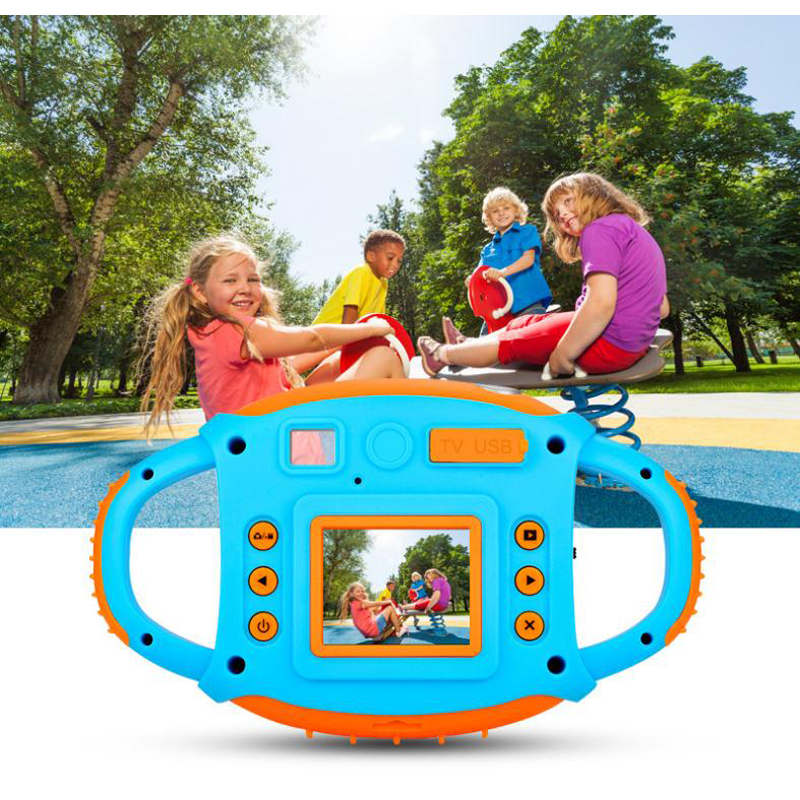 Kids 1080P HD Screen Camera Toys For Children 5 Million Pixel Outdoor Photography With Soft Silicone Protective Shell Xmas Gift