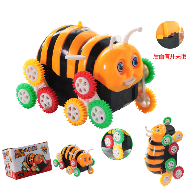 Sleeves Small Bees Tilting Car Stunt Roll Shining Electric Tilting Bees Car Crawler CHILDREN'S Toy Car