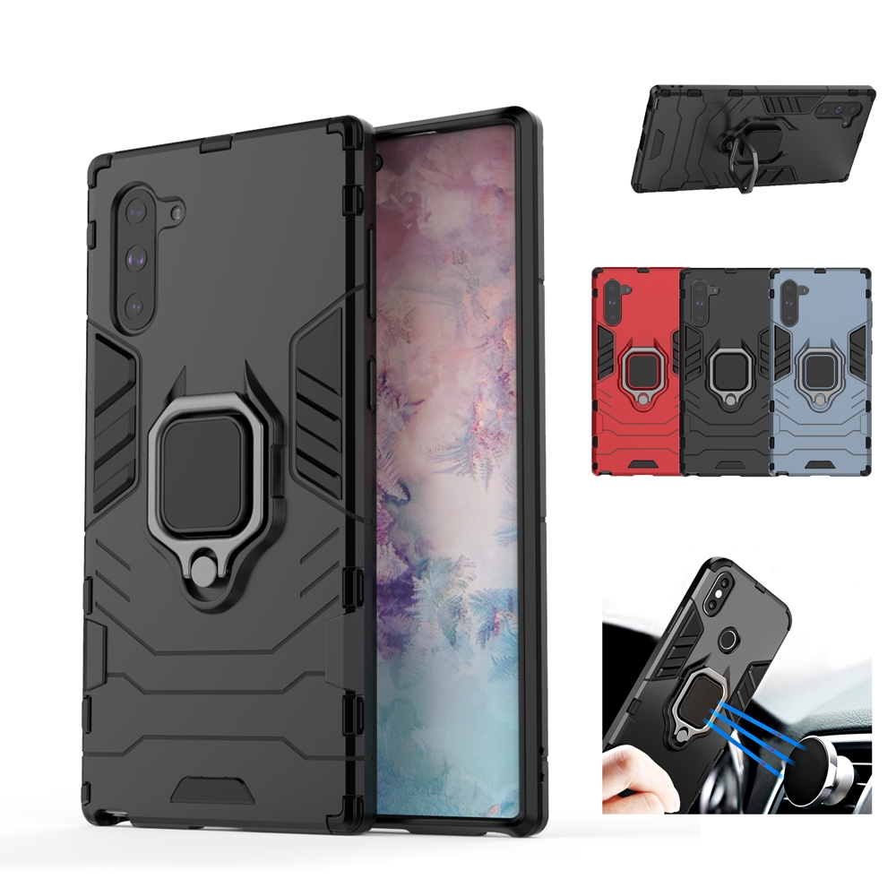 Armored <font><b>Case</b></font> For Samsung Galaxy S10 S9 S8 Plus <font><b>Note</b></font> <font><b>9</b></font> 10 Pro A80 A60 A50 A30 A20 A10 A8 A7 A9 J4 J6 2018 Cover <font><b>With</b></font> Holder <font><b>Ring</b></font> image