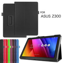 "For Asus ZenPad 10 / Z300 Z300C Z300CL Z300CG Z300M Z301 Z301ML 10.1""Inch Tablet Case Bracket Flip PU Leather Cover Auto Wake Up"