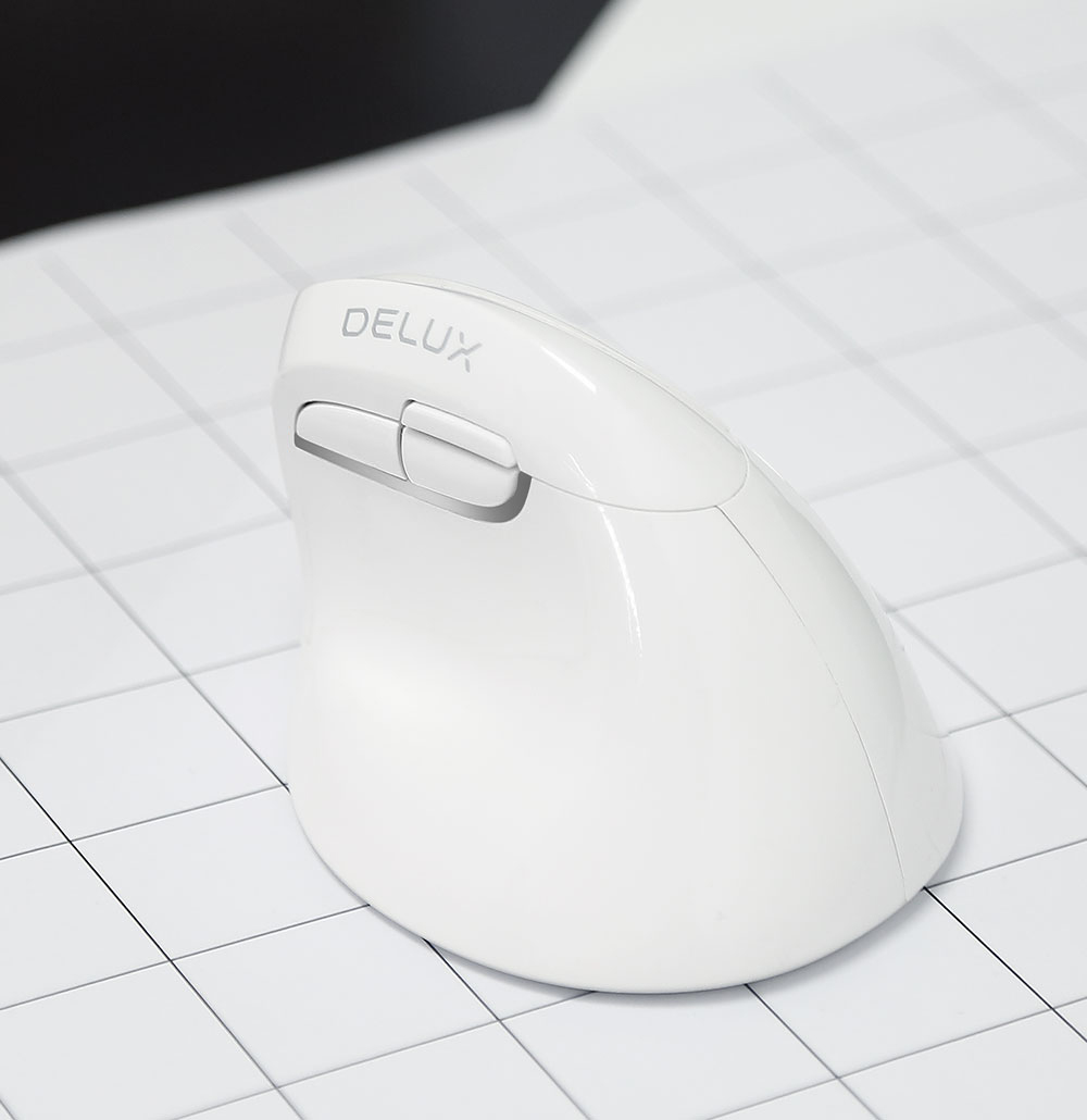 Delux Wireless Vertical Mouse Bluetooth Dual-Mode Laptop