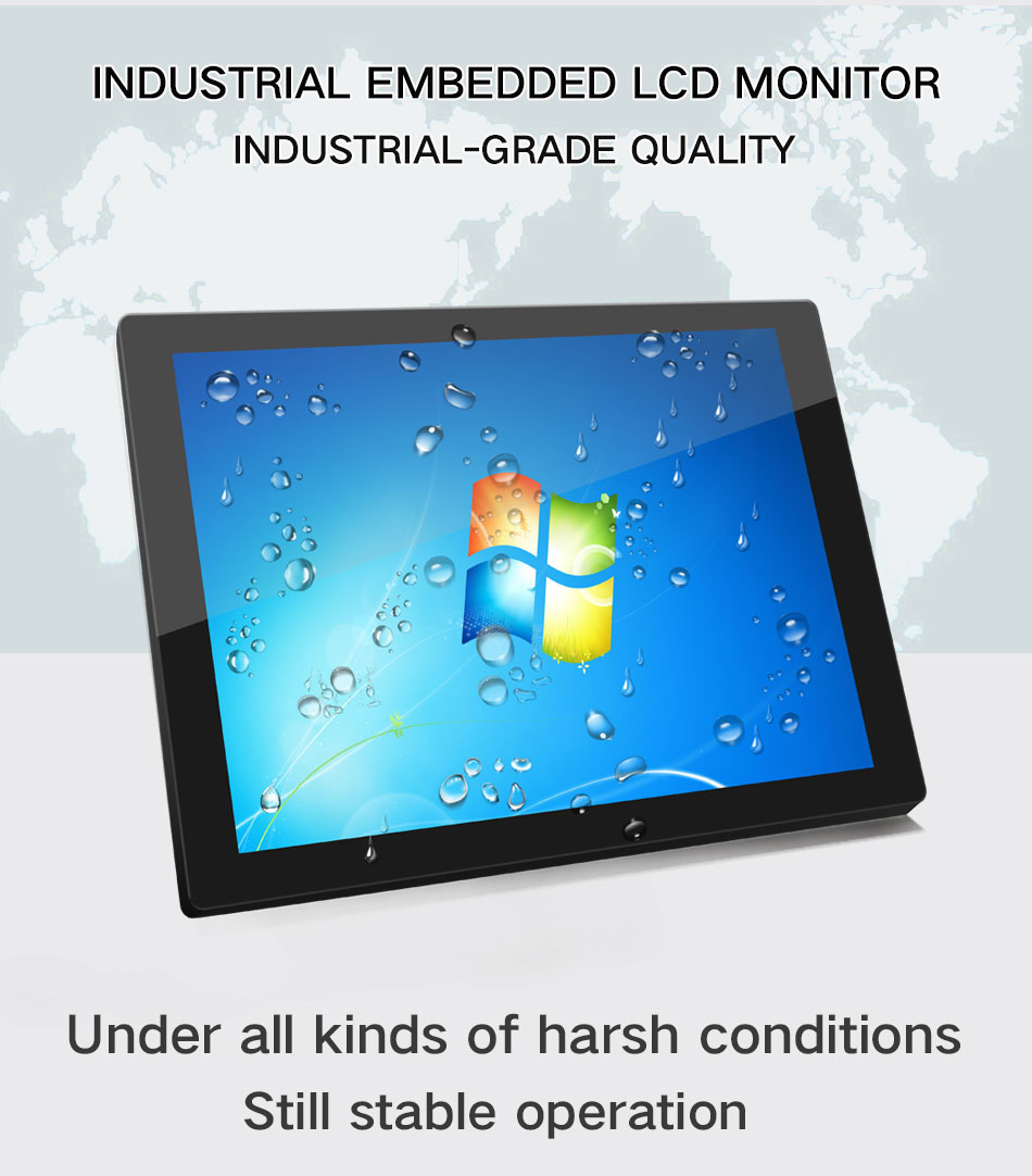 10.4/12.1/14/15/17/19inch All In One Pc Lcd No Touch Screen Monitor With Vga Hdmi Hd