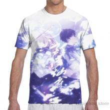 Camisa do menino da menina da forma da cópia da camisa t do menino das camisetas do verão da luva curta tshirts dos homens de shigatsu wa kimi nenhum uso