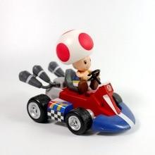 New 1/6/7PCS Super Mario Bros Kart Car Mario Luigi Kart Racing Car PVC Toys Kids Gift Home Decoration Pull back car