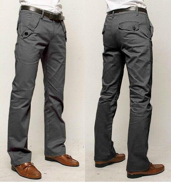 2019 Autumn And Winter New Style Suit Pants Medium Waist Solid Color Versatile Men Casual Trousers