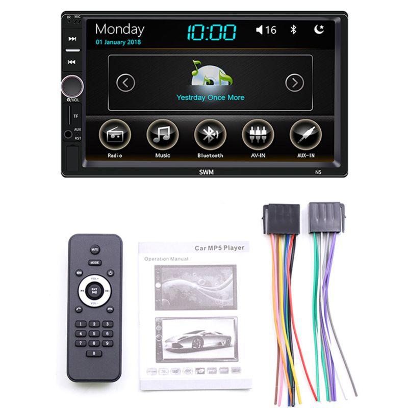 1Set Car Multimedia MP5 Player Entertainment Video Audio Stereo Radio USB FM HD Touch Screen Digital Display Bluetooth H054