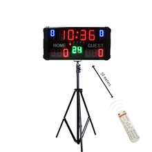 Modern portable electronic basketball digital scoreboard clock led with shot