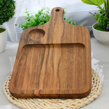 New Wood Food Plate Black Walnut Chopping Blocks Kitchen Wooden Pizza Sushi Bread Whole Tray Cutting Board No Paint #0596