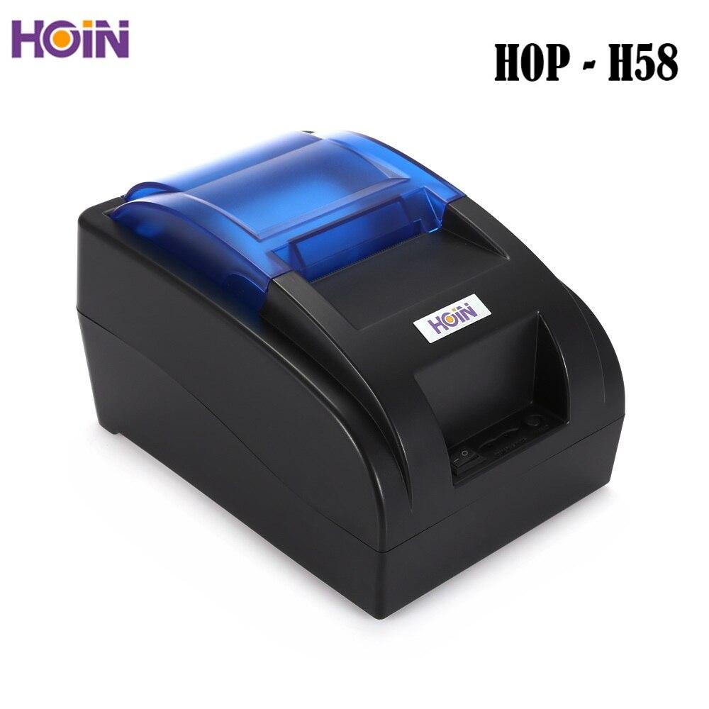 HOIN HOP-H58 USB/Bluetooth/Wifi termiczna drukarka paragonowa POS drukowanie instrumentu wsparcie Dropshipping