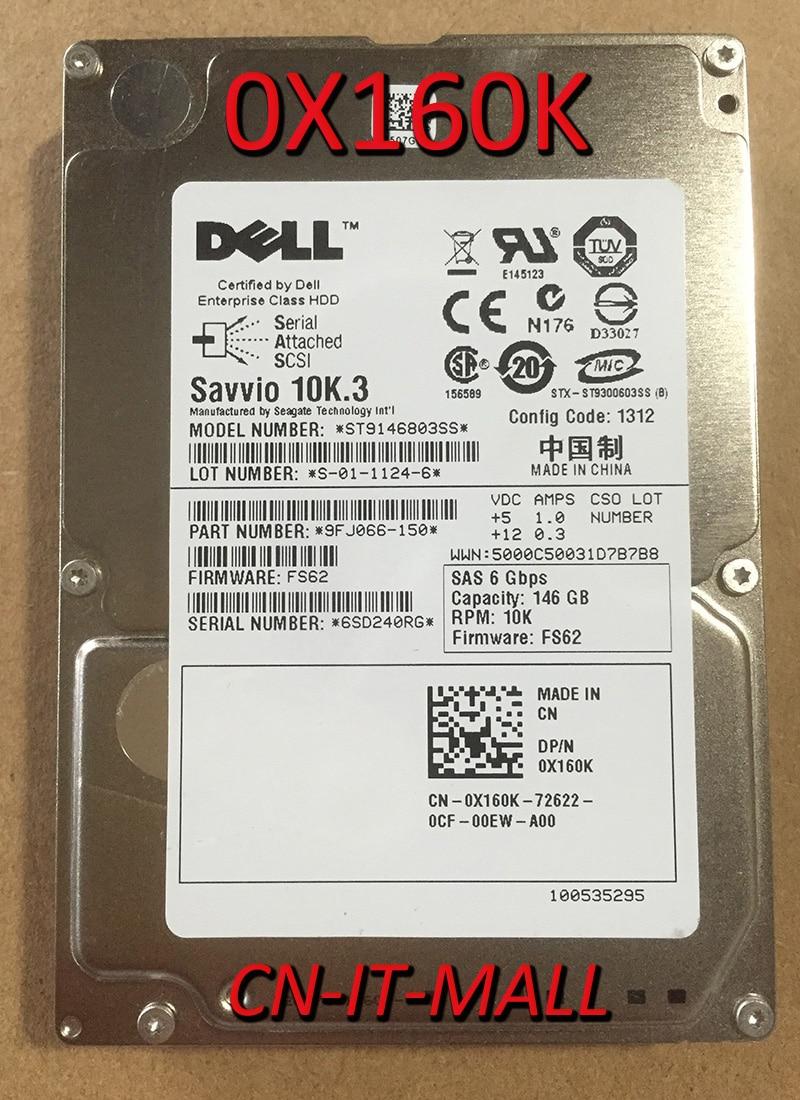 Вытянутый 0X160K 0X829K ST9146803SS 146 ГБ 10000 об/мин 16 Мб кэш SAS 6 ГБ/сек. 2,5 внутренний жесткий диск Enterprise