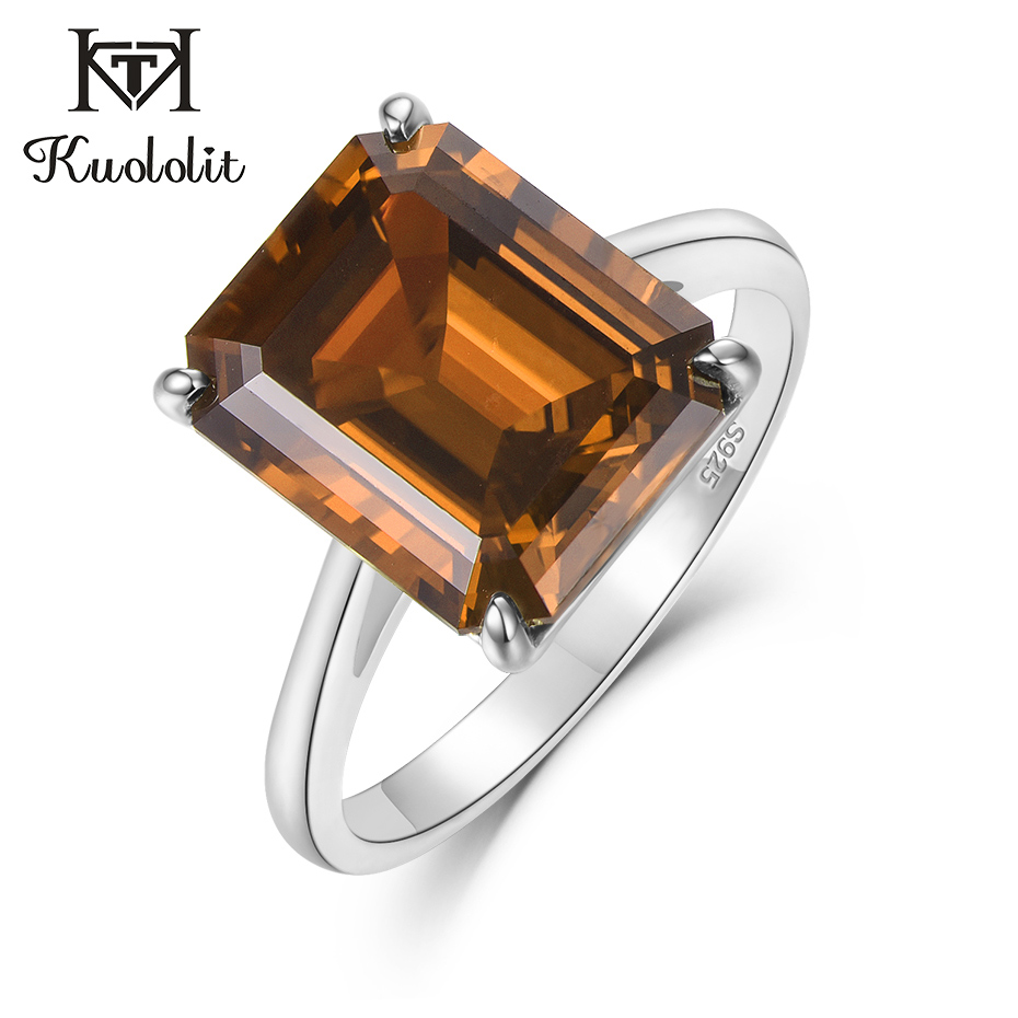 Kuololit Diaspore Sultanite Color Change Gemstone Rings For Women Real 925 Sterling Silver Emerald Cuttingg Engagement Jewelry