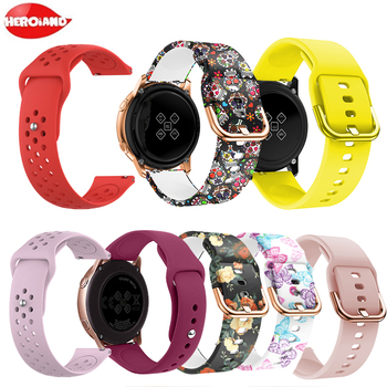 20mm Silicone Watchband for Samsung Galaxy Watch Active 42mm Gear S2 Sport Replacement Bracelet Band Strap for SM-R500 SM-R810 sport soft silicone bracelet wrist band for samsung galaxy watch 42mm sm r810 replacement smart watch strap wristband watchband