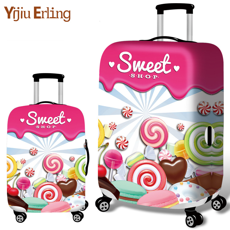 Sweet Candy Stretch Luggage Set Trolley Case Travel Accessories Dust Cover Bag Protector 18 Size - 32 Size Thick Wear Resistant