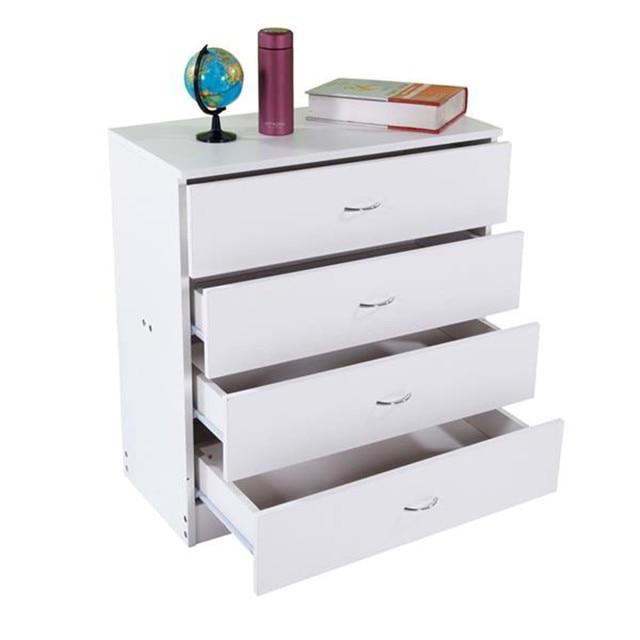 4-Drawer Wood White Dresser  6