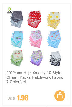 H62cf9b56b31b4e8a9041ce6420bd4c34U 7pcs 24x24cm Mixed Printed Cotton Sewing Quilting Fabrics Basic Quality for Patchwork Needlework DIY Handmade Cloth