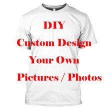 Diy design personalizado próprio estilo poliéster 3d impressão dos homens t camisa hip hop mulher camiseta unissex roupas topos fornecedores para drop shipper