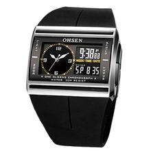 Digital Analog Watch Men LED Luminous Date Rubber Band Sport