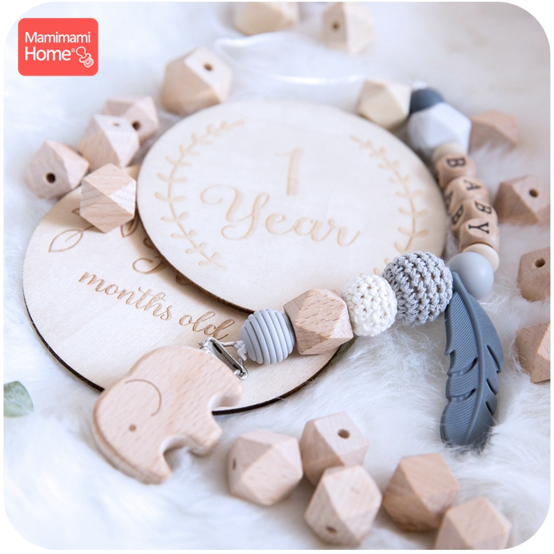 Купить с кэшбэком Mamihome 8-20mm Baby Wooden Teether Beech Beads Rings BPA Free Wooden Blank DIY For Nursing Gifts Tiny Rod Children'S Goods Toys