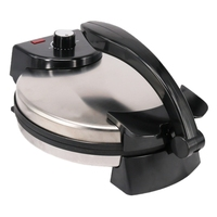 Non Stick EU Plug Electric Crepe Pizza Maker Pancake Machine Non Stick Griddle Baking Pan Cake Machine Kitchen Cooking Tools Cre|3 in 1 Breakfast Makers| |  -